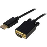 StarTech.com 15 ft DisplayPort to VGA Adapter Converter Cable - DP to VGA 1920x1200 - Black