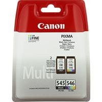 Canon PG-545/CL-546 Ink Cartridge - Cyan, Magenta, Yellow, Black