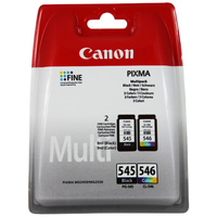 Canon PG-545/CL-546 Ink Cartridge - Black, Colour