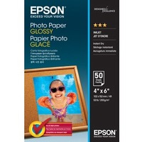 Epson Photo Paper - 100 mm x 150 mm - Glossy, Smooth - 50 / Pack