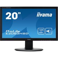 """iiyama ProLite E2083HSD 49.5 cm (19.5"""") LED LCD Monitor - 16:9 - 5 ms"""