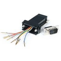 StarTech.com DB9 to RJ45 Modular Adapter - M/F - Serial adapter - DB-9 (M) - RJ-45 (F) - 1 x DB-9 Male - 1 x RJ-45 Female - Grey