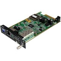 StarTech.com Gigabit Ethernet Fiber Media Converter Card Module with Open SFP Slot - 1 Port(s) - 1 x Network (RJ-45) - Twisted Pair - 10/100/1000Base-T - 1 x Expansi