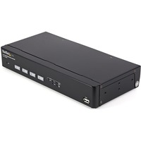 StarTech.com 4 Port USB VGA KVM Switch with DDM Fast Switching Technology and Cables - 4 Computer(s) - 1 Local User(s) - 1920 x 1440 - 1 x Network (RJ-45) - 4 x USB