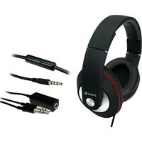 Sandberg Playn Go Wired 40 mm Stereo Headset - Over-the-head - Circumaural - Black