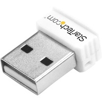 StarTech.com USB 150Mbps Mini Wireless N Network Adapter - 802.11n/g 1T1R USB WiFi Adapter - White - USB - 150 Mbit/s - 2.40 GHz ISM - 100 m Indoor Range - 300 m Out