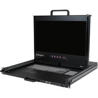 StarTech.com 1U 17inch HD 1080p Dual Rail Rackmount LCD Console w/ Fingerprint Reader and Front USB Hub