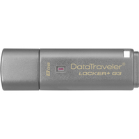 Kingston DataTraveler Locker+ G3 8 GB USB 3.0 Flash Drive - Silver - 1 Pack