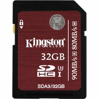 Kingston 32 GB SDHC - Class 3/UHS-I - 90 MB/s Read - 80 MB/s Write - 1 Card