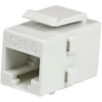 StarTech.com White Cat 6 RJ45 Keystone Jack Network Coupler - F/F - 1 x RJ-45 Female Network - 1 x RJ-45 Female Network - White