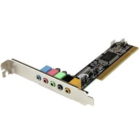 StarTech.com 5.1 Channel PCI Surround Sound Card Adapter - C-Media 8738LX - PCI