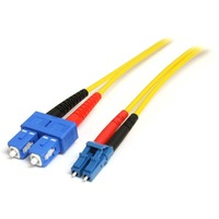 StarTech.com 10m Single Mode Duplex Fiber Patch Cable LC-SC - 2 x LC Male Network - 2 x SC Male Network - Patch Cable - Yellow