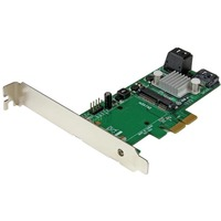 StarTech.com 3 Port PCI Express 2.0 SATA III 6 Gbps RAID Controller Card w/ mSATA Slot and HyperDuo SSD Tiering - RAID Supported - JBOD, 0, 1, 10, 1+0 RAID Level - 3