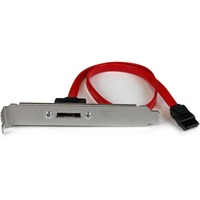 StarTech.com 18in 1 Port SATA to eSATA Plate Adapter - 1 x SATA - 1 x eSATA - Red
