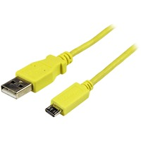StarTech.com 1m Yellow Mobile Charge Sync USB to Slim Micro USB Cable for Smartphones and Tablets