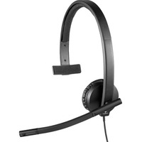 Logitech H570e Wired Mono Headset - Over-the-head - Supra-aural - 31.50 Hz - 20 kHz - USB