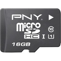 PNY Elite Performance 16 GB microSDHC - 100 MB/s Read - 30 MB/s Write - 1 Card