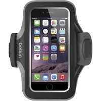 Belkin Slim-Fit Plus Carrying Case (Armband) for iPhone - Blacktop - Neoprene, Fabric - Armband