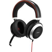 Jabra EVOLVE 80 Wired Stereo Headset - Over-the-head - Circumaural - USB, Mini-phone