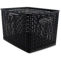 Advantus Plastic Weave Bin AVT40328