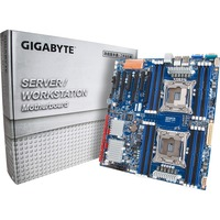Gigabyte MD70-HB0 Server Motherboard - Intel C612 Chipset - Socket LGA 2011-v3 - Extended ATX - 2 x Processor Support - 64 GB DDR4 SDRAM Maximum RAM - 1.87 GHz, 2.13