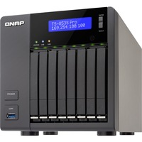 QNAP Turbo NAS TS-853S Pro 8 x Total Bays NAS Server - Tower - Intel Celeron Quad-core (4 Core) 2 GHz - 4 GB RAM DDR3L SDRAM - Serial ATA/600 - RAID Supported 0, 1,