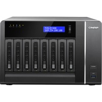 QNAP Turbo vNAS TVS-EC880 8 x Total Bays NAS Server - Tower - Intel Xeon E3-1245 v3 Quad-core (4 Core) 3.40 GHz - 16 GB RAM DDR3 SDRAM - Serial ATA/6000, 1, 5, 6, 10