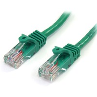 StarTech.com 3 m Green Cat5e Snagless RJ45 UTP Patch Cable - 3m Patch Cord - 1 x RJ-45 Male Network