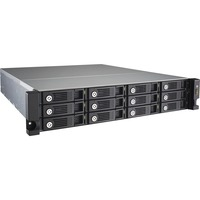 QNAP Turbo vNAS TVS-1271U-RP 12 x Total Bays SAN/NAS Server - 2U - Rack-mountable - Intel Core i5