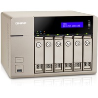 QNAP Turbo vNAS TVS-663 6 x Total Bays NAS Server - Tower - AMD Quad-core 4 Core 2.40 GHz