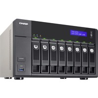 QNAP Turbo vNAS TVS-871 8 x Total Bays NAS Server - Tower - Intel Core i5 i5-4590S Quad-core (4 Core) 3 GHz - 8 GB RAM DDR3 SDRAM - Serial ATA/600 - RAID Supported 0
