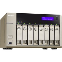QNAP Turbo vNAS TVS-863 8 x Total Bays NAS Server - Tower - AMD Quad-core (4 Core) 2.40 GHz - 4 GB RAM DDR3L SDRAM - Serial ATA/600 - RAID Supported 0, 1, 5, 6, 10,