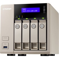 QNAP TVS-463 4 x Total Bays NAS Server - Tower - AMD Quad-core (4 Core) 2.40 GHz - 4 GB RAM DDR3 SDRAM - Serial ATA/600 - RAID Supported 0, 1, 5, 6, 10, 5+Hot Spare,