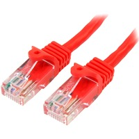 StarTech.com 2 m Red Cat5e Snagless RJ45 UTP Patch Cable - 2m Patch Cord - 1 x RJ-45 Male Network - 1 x RJ-45 Male Network - Patch Cable - Gold-plated Contacts - Red