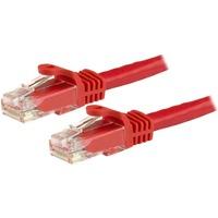 StarTech.com 1m Red Gigabit Snagless RJ45 UTP Cat6 Patch Cable - 1 m Patch Cord - 1 x RJ-45 Male Network - 1 x RJ-45 Male Network - Patch Cable - Gold-plated Contact