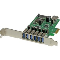 StarTech.com 7-Port PCI Express USB 3.0 card - Standard and Low-Profile Design - 7 Total USB Port(s) - 7 USB 3.0 Port(s) - PC, Linux