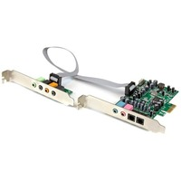 StarTech.com 7.1 Channel Sound Card - PCI Express - 24-bit - 192KHz - C-Media CM8828 - PCI Express x1 - 92 dB - S/PDIF Out