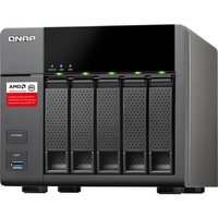 QNAP Turbo NAS TS-563 5 x Total Bays NAS Server - Tower - AMD Quad-core (4 Core) 2 GHz - 8 GB RAM DDR3 SDRAM - Serial ATA/600 - RAID Supported 0, 1, 5, 6, 10, Hot Sp