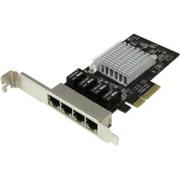 StarTech.com 4 Port PCI Express Gigabit Ethernet Network Card - Intel I350 NIC - Quad Port PCIe Network Adapter Card w/ Intel Chip - PCI Express x4 - 4 Port(s) - 4 -