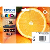 Epson Claria 33XL Ink Cartridge - Yellow, Cyan, Magenta, Black, Photo Black - Inkjet - 5 / Blister Pack