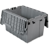 Akro Mils Attached Lid Storage Container AKM39120GREY