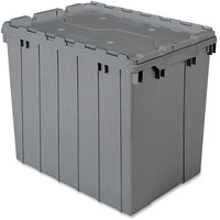 Akro Mils Attached Lid Storage Container AKM39170GREY