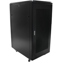 StarTech.com 25U 36in Knock-Down Server Rack Cabinet with Casters - Steel, Aluminium - 815 kg x Maximum Weight Capacity