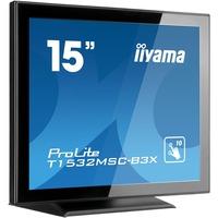 "iiyama ProLite T1532MSC-B3X 38.1 cm (15"") LCD Touchscreen Monitor - 4:3 - 8 ms"