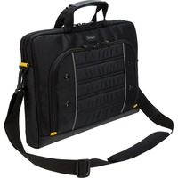 "Targus Drifter Carrying Case for 39.6 cm (15.6"") Notebook - Black, Yellow - Water Resistant Base - Polyurethane, Poly - Trolley Strap, Handle, Shoulder Strap"