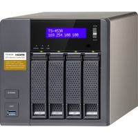 QNAP Turbo NAS TS-453A 4 x Total Bays NAS Server - Desktop - Intel Celeron N3150 Quad-core (4 Core) 1.60 GHz - 8 GB RAM DDR3L SDRAM - Serial ATA/600 - RAID Supported
