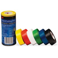 3M Vinyl Tape 764 Color coding Pack MMM7641226PK
