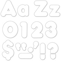 """Trend White 4"""" Casual Ready Letters Combo Pack 79905"""