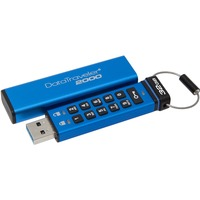 Kingston DataTraveler 2000 32 GB USB 3.1 Flash Drive - Blue - 256-bit AES