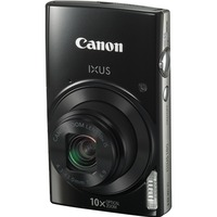 "Canon IXUS 180 20 Megapixel Compact Camera - Black - 6.8 cm (2.7"") LCD - 16:9 - 10x Optical Zoom - 4x - Optical (IS) - TTL - 5152 x 3864 Image - 1280 x 720 Video - H"